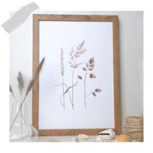 Prent A5 grassen aquarel