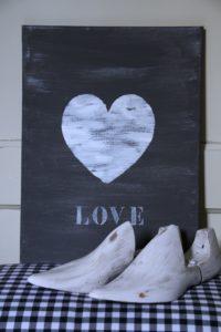 wanddecoratie schilderij love